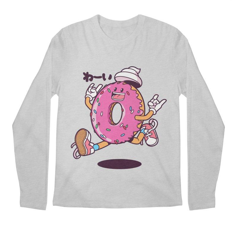 Jumping Donut Men's Regular Longsleeve T-Shirt by mankeeboi's Artist Shop