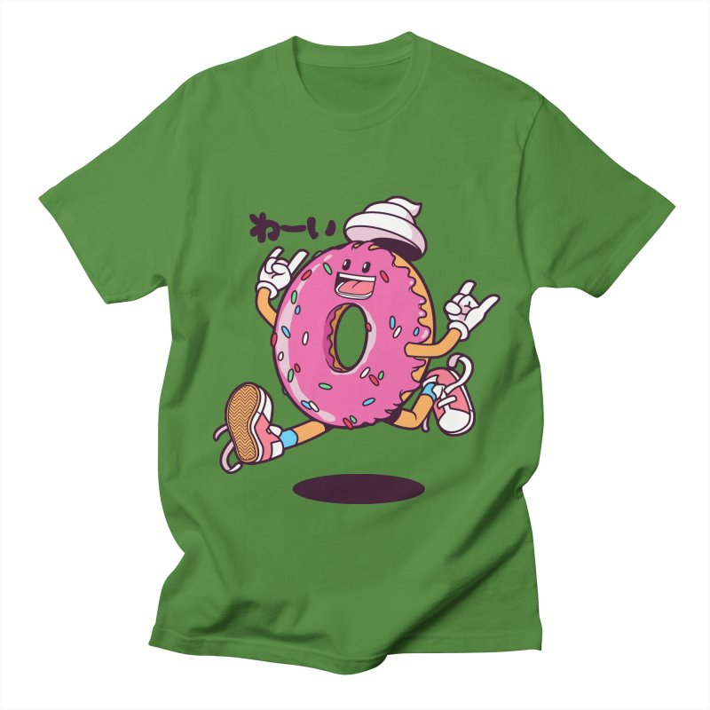 Jumping Donut Men's T-Shirt by mankeeboi's Artist Shop