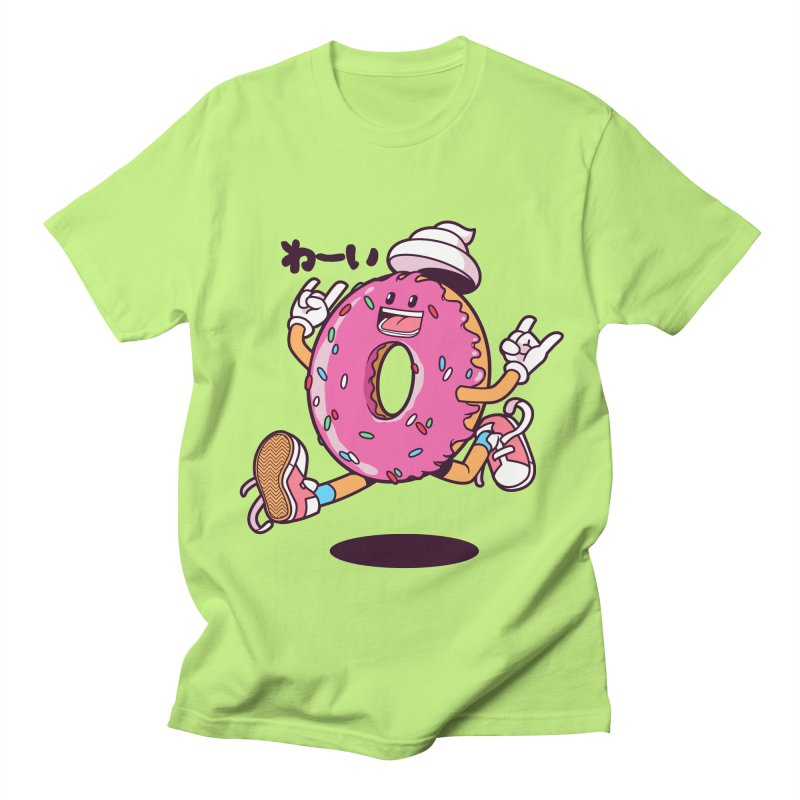 Jumping Donut Women's Unisex T-Shirt by mankeeboi's Artist Shop