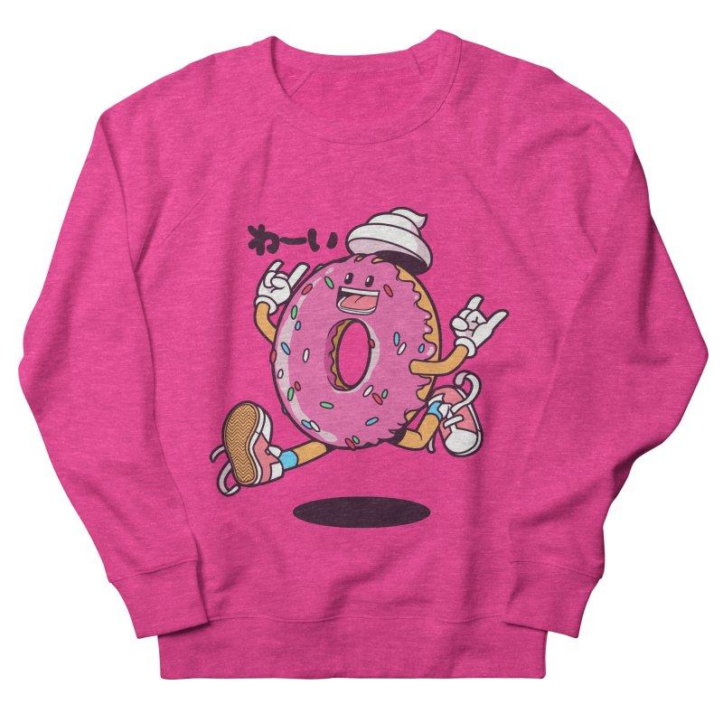 Jumping Donut Women's French Terry Sweatshirt by mankeeboi's Artist Shop