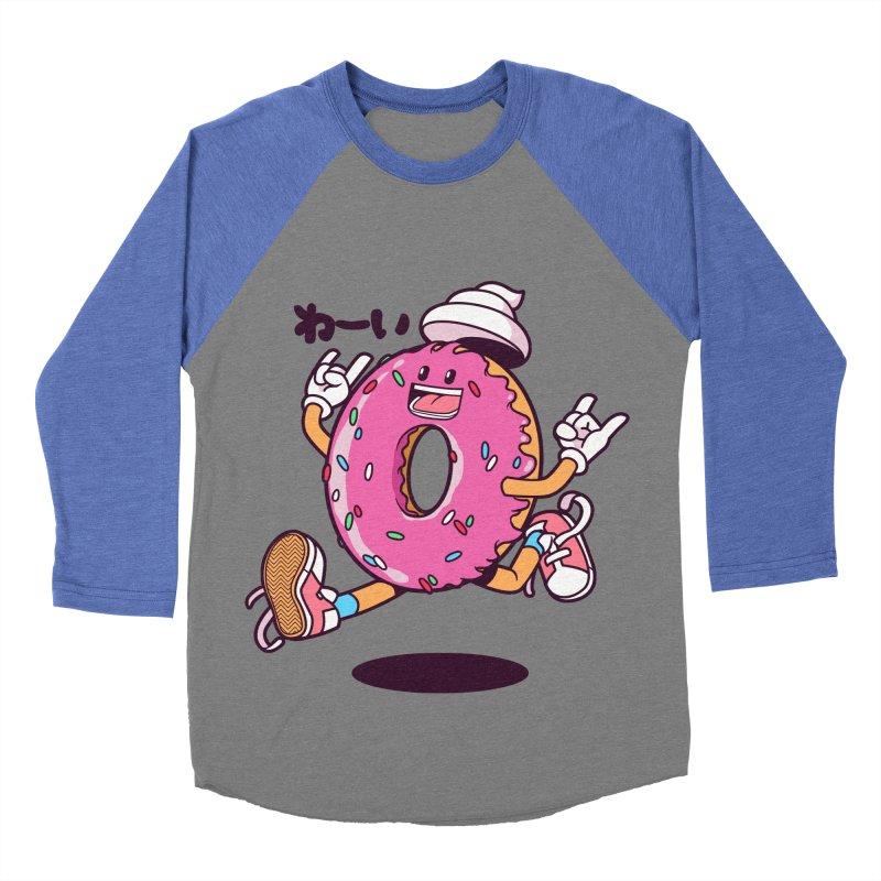 Jumping Donut Women's Baseball Triblend T-Shirt by mankeeboi's Artist Shop