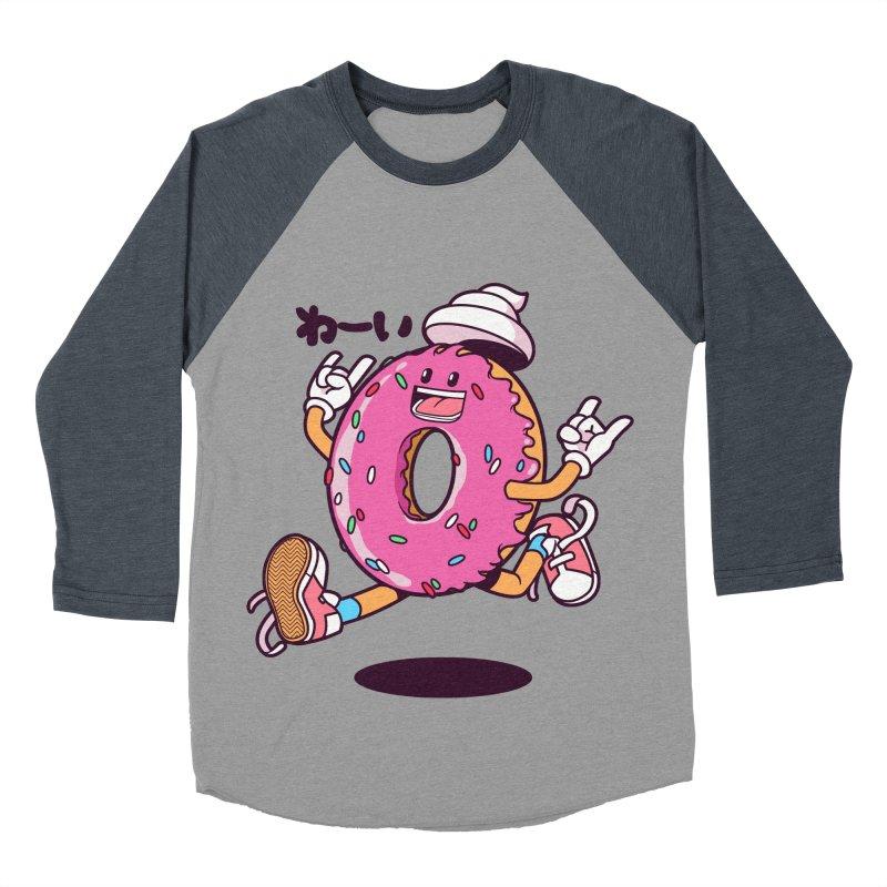 Jumping Donut Men's Baseball Triblend T-Shirt by mankeeboi's Artist Shop