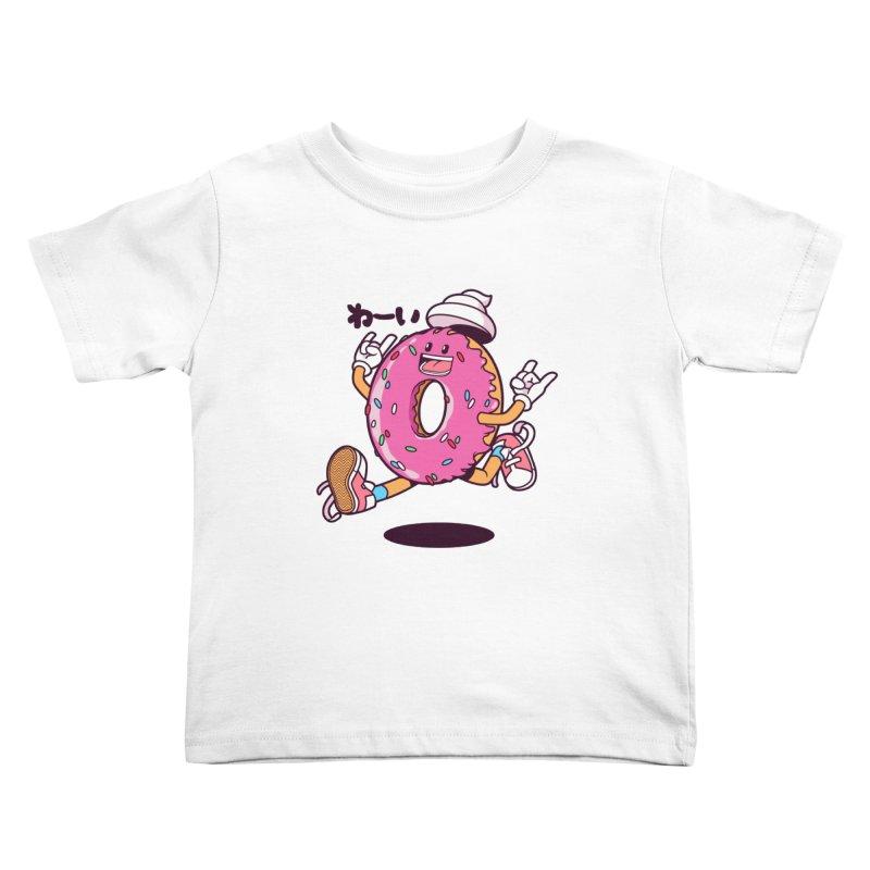 Jumping Donut Kids Toddler T-Shirt by mankeeboi's Artist Shop
