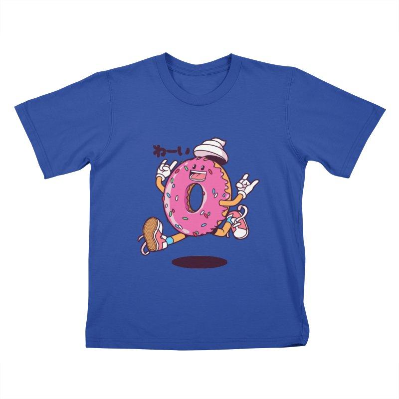 Jumping Donut Kids T-Shirt by mankeeboi's Artist Shop
