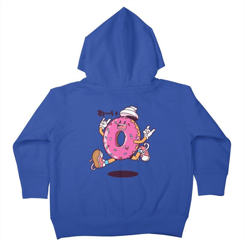 Jumping Donut Kids Toddler Zip-Up Hoody by mankeeboi's Artist Shop
