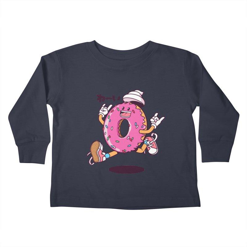 Jumping Donut Kids Toddler Longsleeve T-Shirt by mankeeboi's Artist Shop