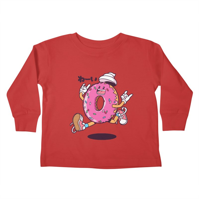 Jumping Donut Kids Toddler Longsleeve T-Shirt by mankeeboi's Artist Shop