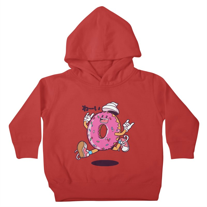 Jumping Donut Kids Toddler Pullover Hoody by mankeeboi's Artist Shop
