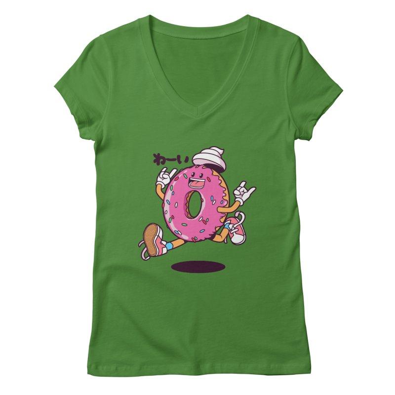 Jumping Donut Women's  by mankeeboi's Artist Shop