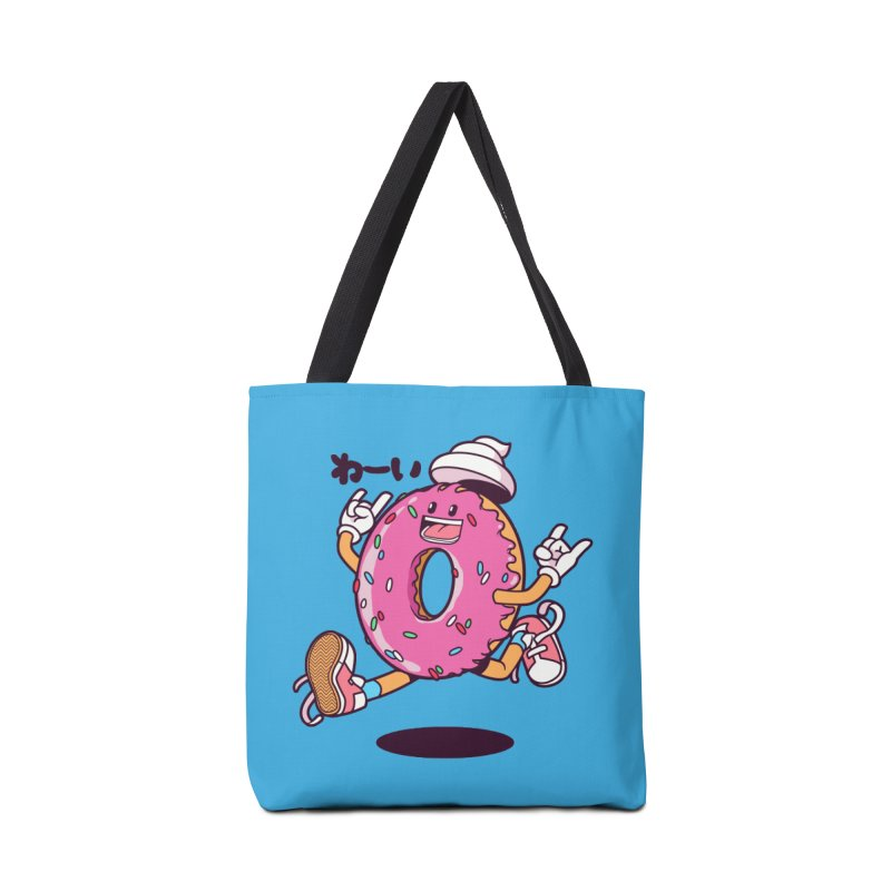 Jumping Donut Accessories Bag by mankeeboi's Artist Shop