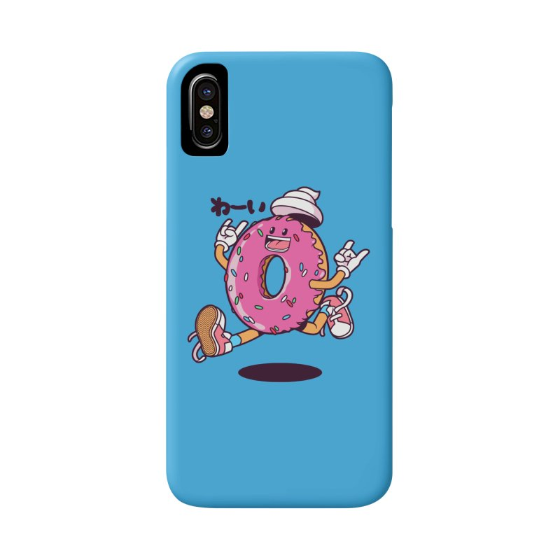 Jumping Donut Accessories Phone Case by mankeeboi's Artist Shop