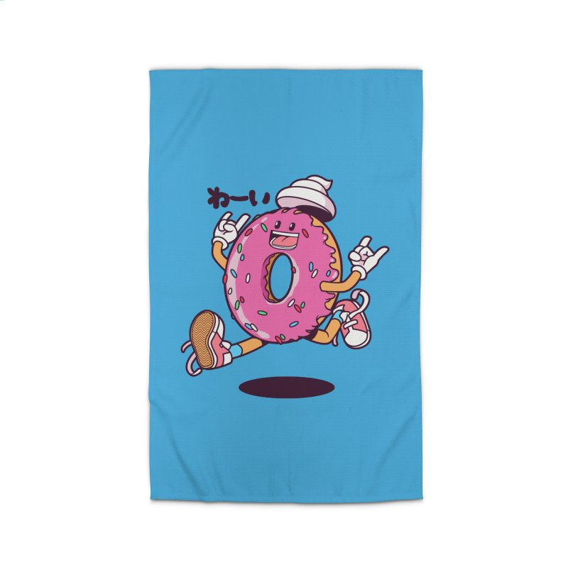 Jumping Donut Home Rug by mankeeboi's Artist Shop
