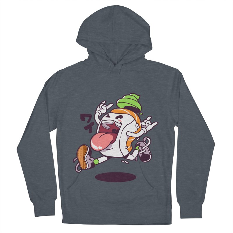 Jumping Salmon Sushi Men's Pullover Hoody by mankeeboi's Artist Shop