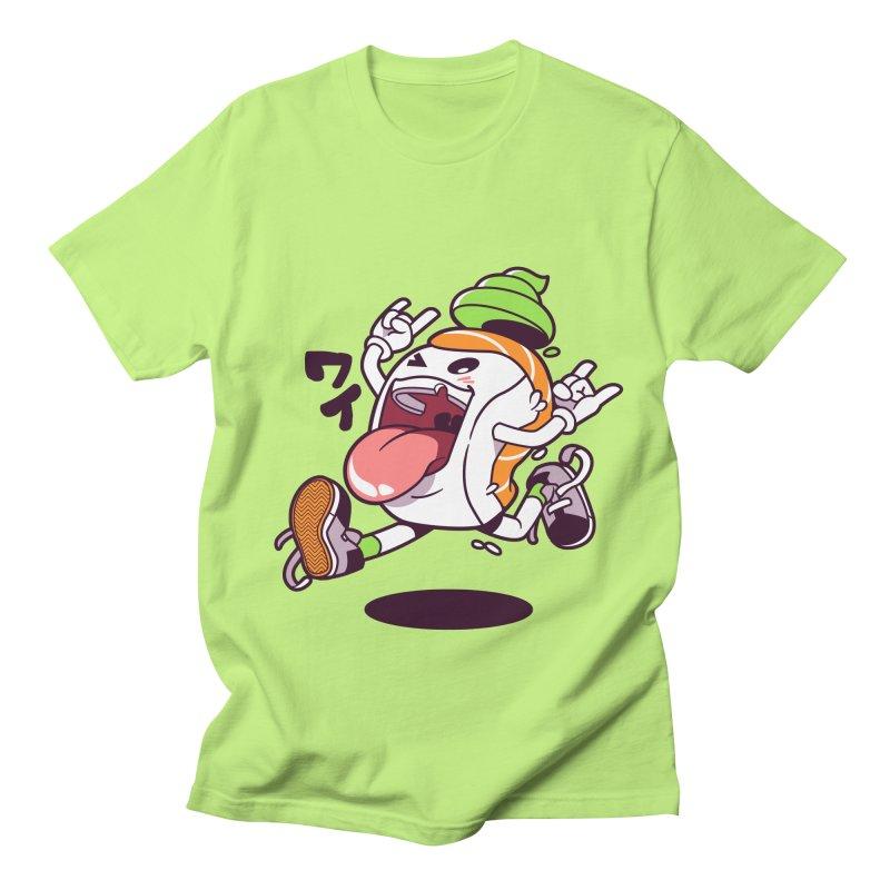Jumping Salmon Sushi Men's Regular T-Shirt by mankeeboi's Artist Shop