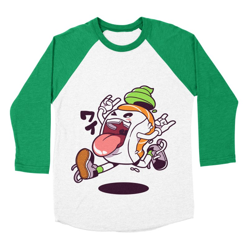 Jumping Salmon Sushi Women's Baseball Triblend Longsleeve T-Shirt by mankeeboi's Artist Shop