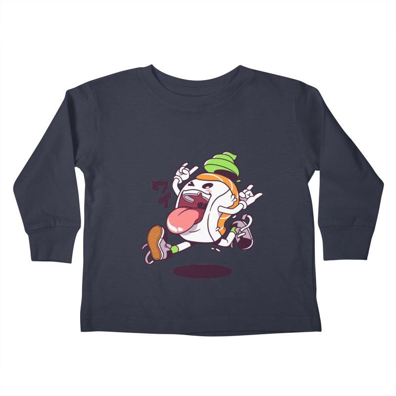 Jumping Salmon Sushi Kids Toddler Longsleeve T-Shirt by mankeeboi's Artist Shop