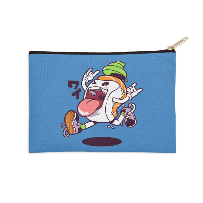 Jumping Salmon Sushi Accessories Zip Pouch by mankeeboi's Artist Shop