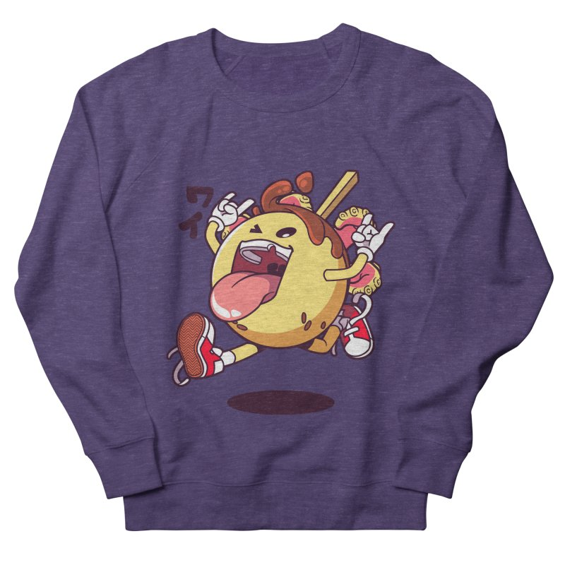 Takoyaki Jump Women's French Terry Sweatshirt by mankeeboi's Artist Shop