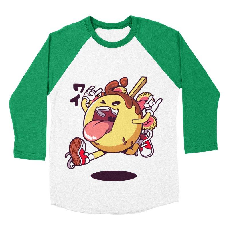 Takoyaki Jump Women's Baseball Triblend T-Shirt by mankeeboi's Artist Shop