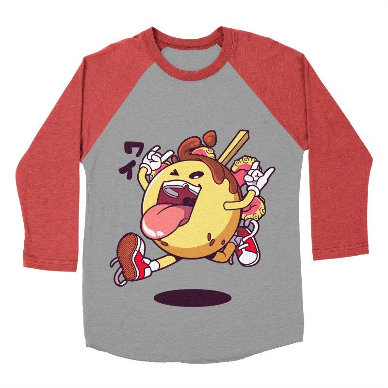 Takoyaki Jump Men's Baseball Triblend T-Shirt by mankeeboi's Artist Shop