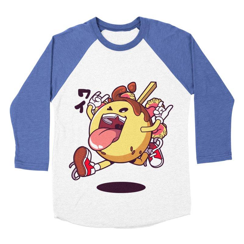 Takoyaki Jump Men's Baseball Triblend Longsleeve T-Shirt by mankeeboi's Artist Shop