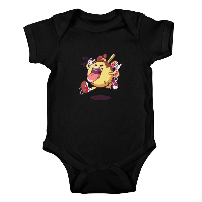Takoyaki Jump Kids Baby Bodysuit by mankeeboi's Artist Shop
