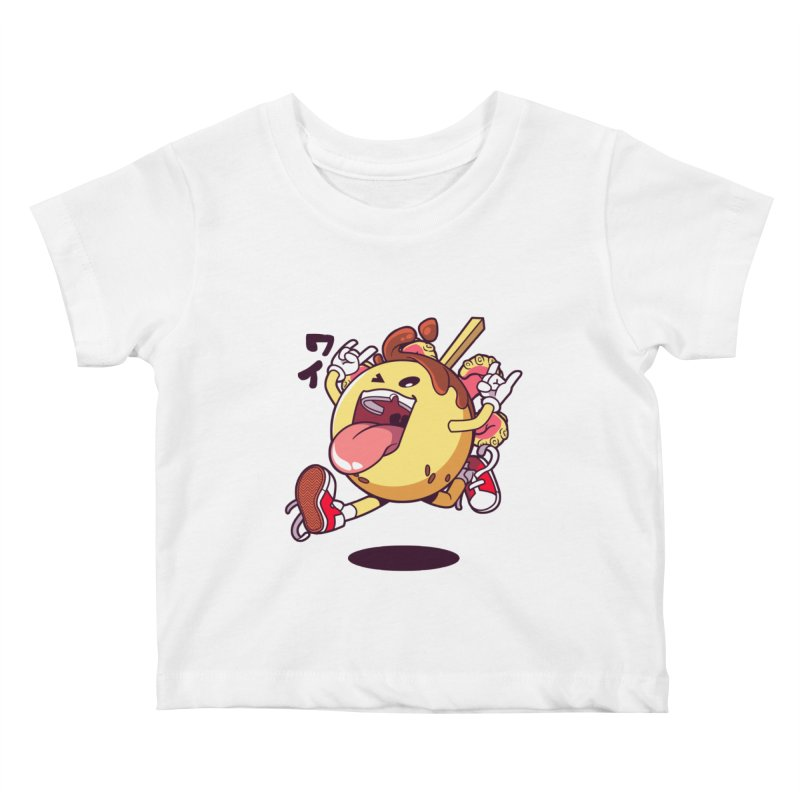 Takoyaki Jump Kids Baby T-Shirt by mankeeboi's Artist Shop