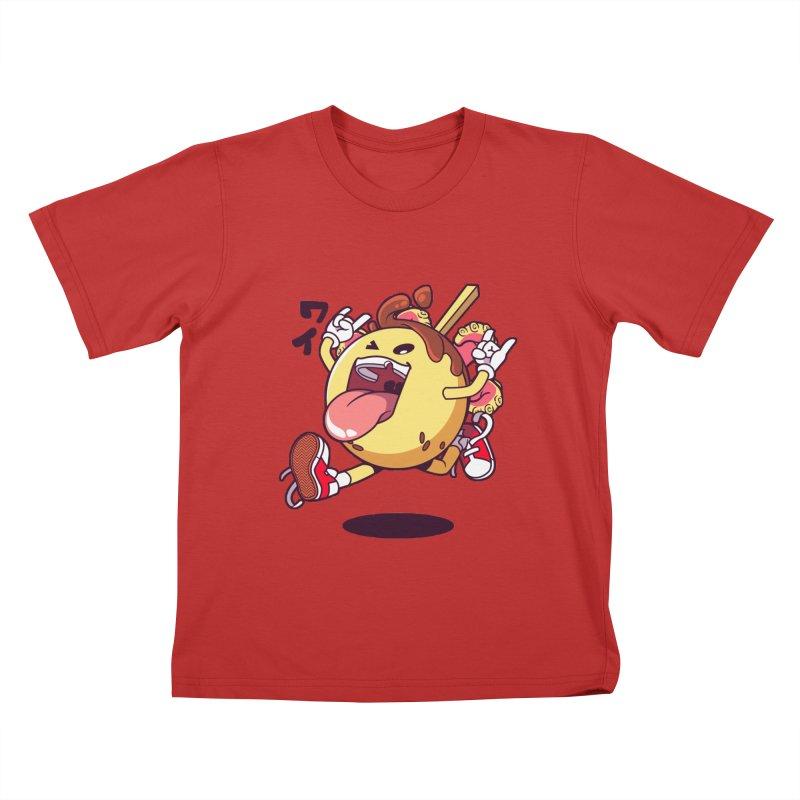 Takoyaki Jump Kids T-Shirt by mankeeboi's Artist Shop