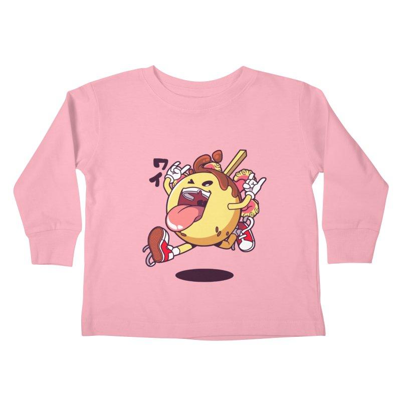Takoyaki Jump Kids Toddler Longsleeve T-Shirt by mankeeboi's Artist Shop