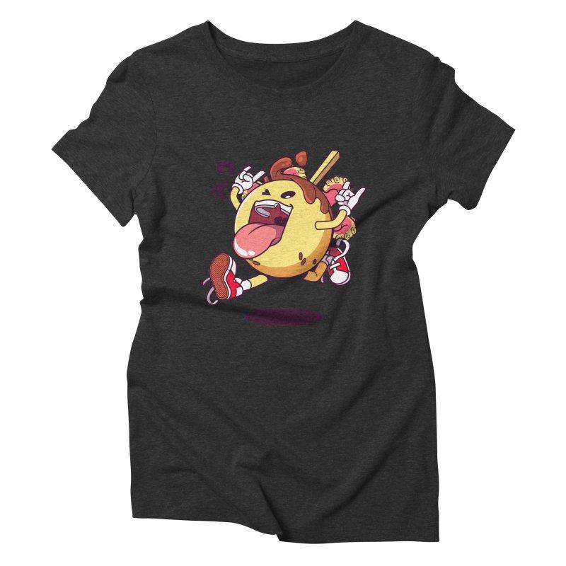 Takoyaki Jump Women's Triblend T-Shirt by mankeeboi's Artist Shop