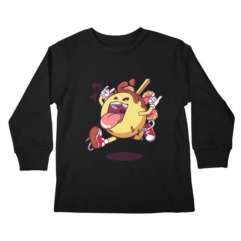 Takoyaki Jump Kids Longsleeve T-Shirt by mankeeboi's Artist Shop