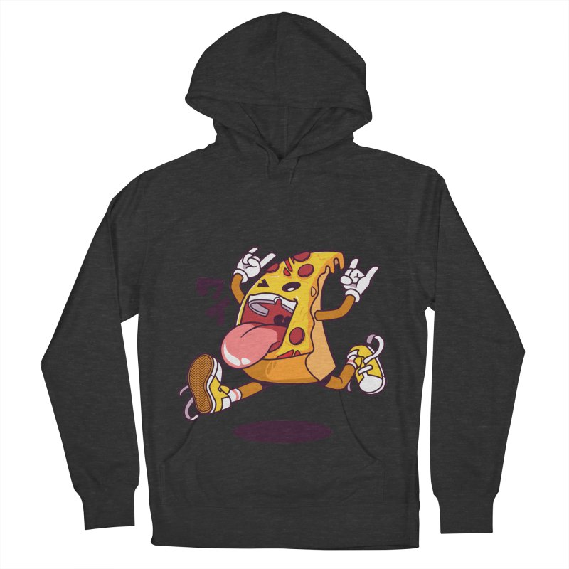 Pizza Jump Men's French Terry Pullover Hoody by mankeeboi's Artist Shop