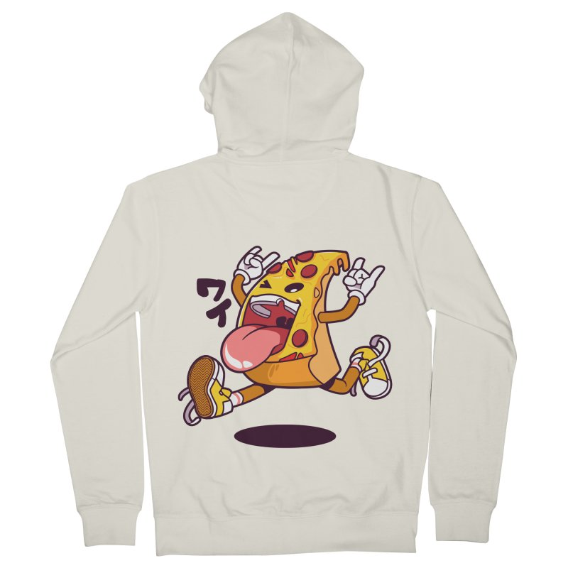 Pizza Jump Women's French Terry Zip-Up Hoody by mankeeboi's Artist Shop