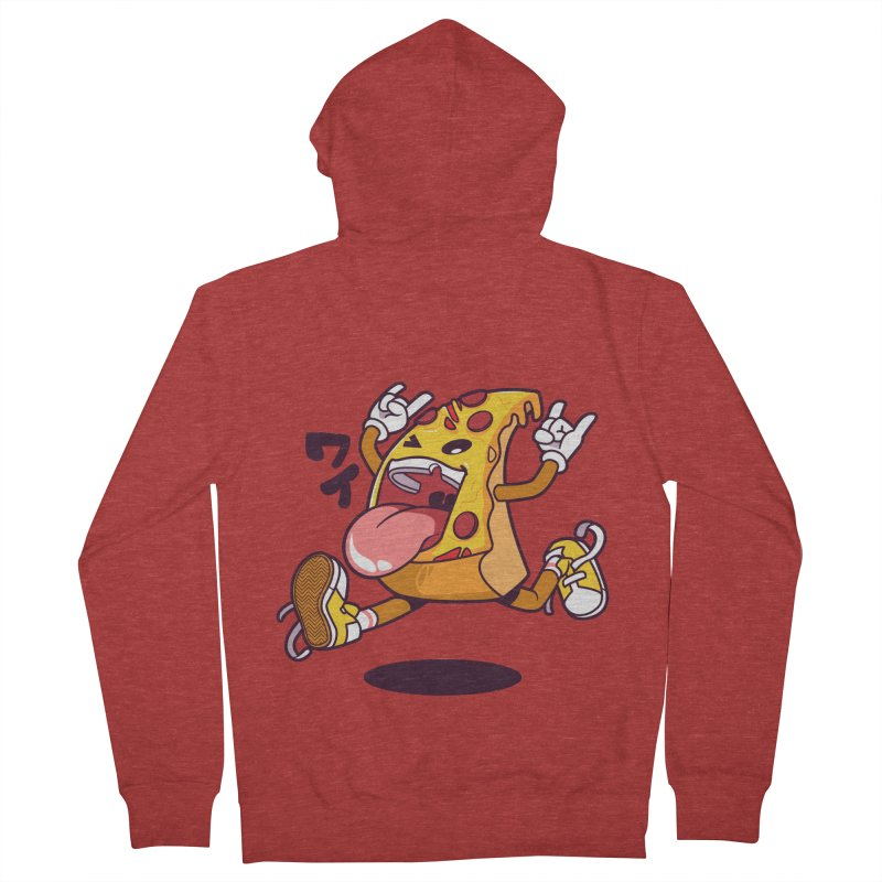 Pizza Jump Men's French Terry Zip-Up Hoody by mankeeboi's Artist Shop