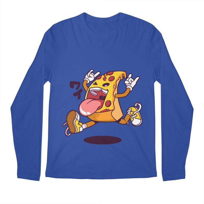 Pizza Jump Men's Regular Longsleeve T-Shirt by mankeeboi's Artist Shop