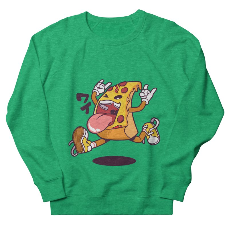 Pizza Jump Women's French Terry Sweatshirt by mankeeboi's Artist Shop