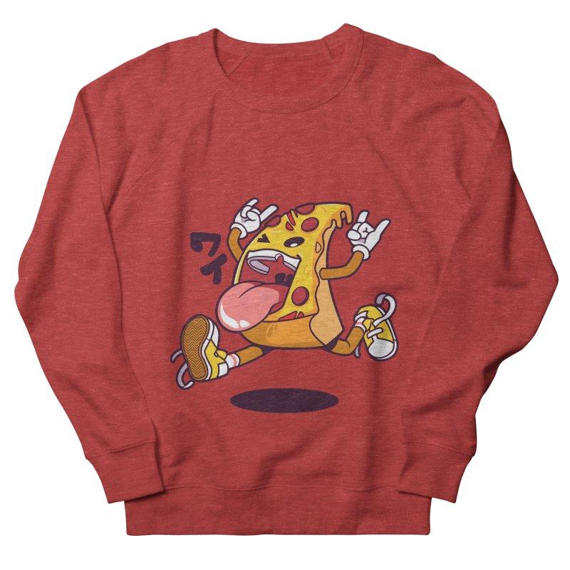 Pizza Jump Women's French Terry Sweatshirt by mankeeboi's Artist Shop