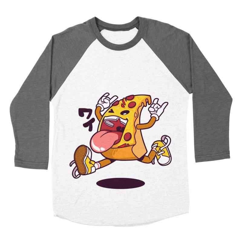 Pizza Jump Women's Baseball Triblend T-Shirt by mankeeboi's Artist Shop