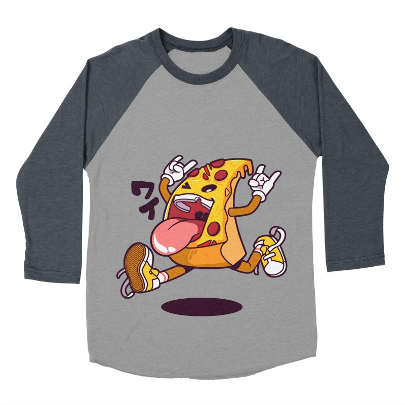 Pizza Jump Men's Baseball Triblend Longsleeve T-Shirt by mankeeboi's Artist Shop