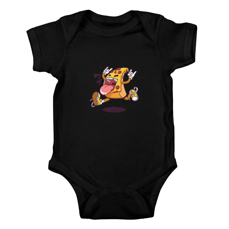 Pizza Jump Kids Baby Bodysuit by mankeeboi's Artist Shop