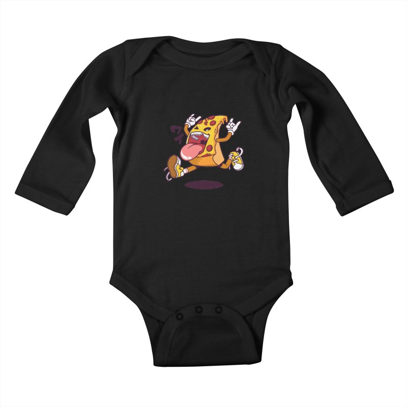 Pizza Jump Kids Baby Longsleeve Bodysuit by mankeeboi's Artist Shop
