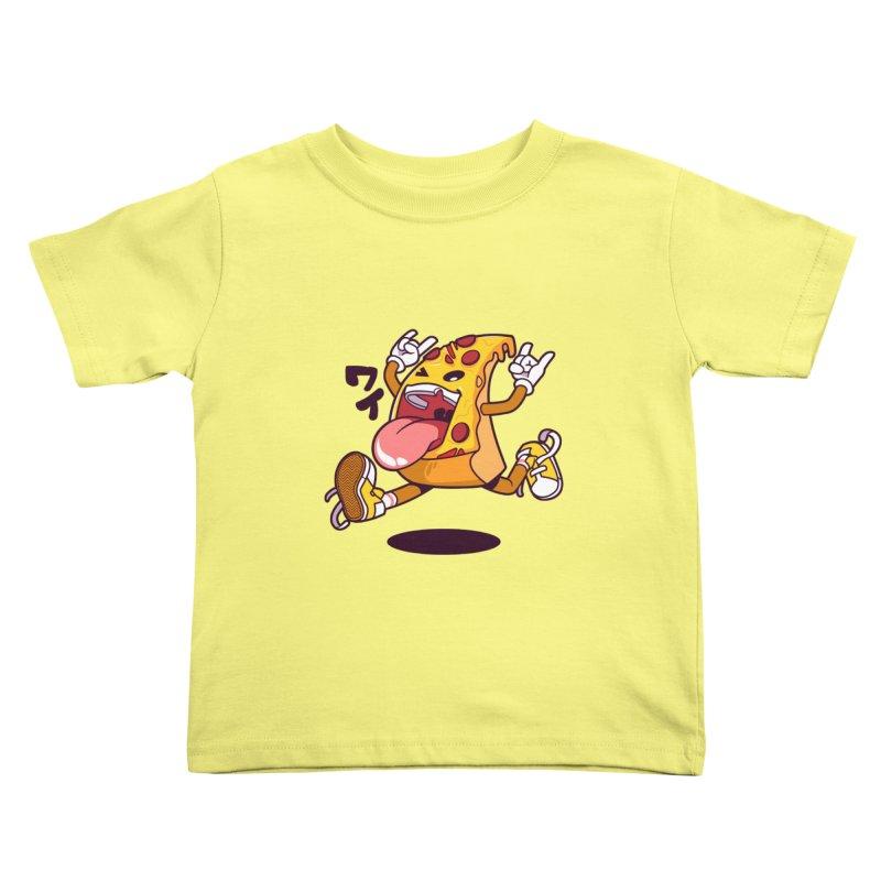 Pizza Jump Kids Toddler T-Shirt by mankeeboi's Artist Shop