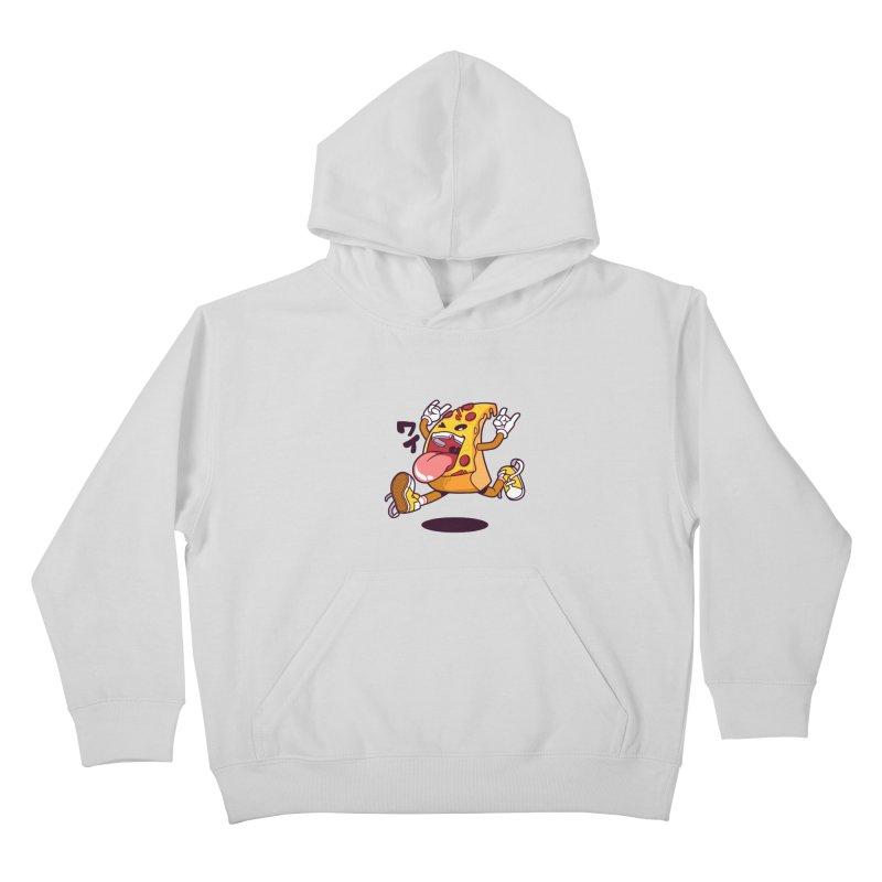 Pizza Jump Kids Pullover Hoody by mankeeboi's Artist Shop