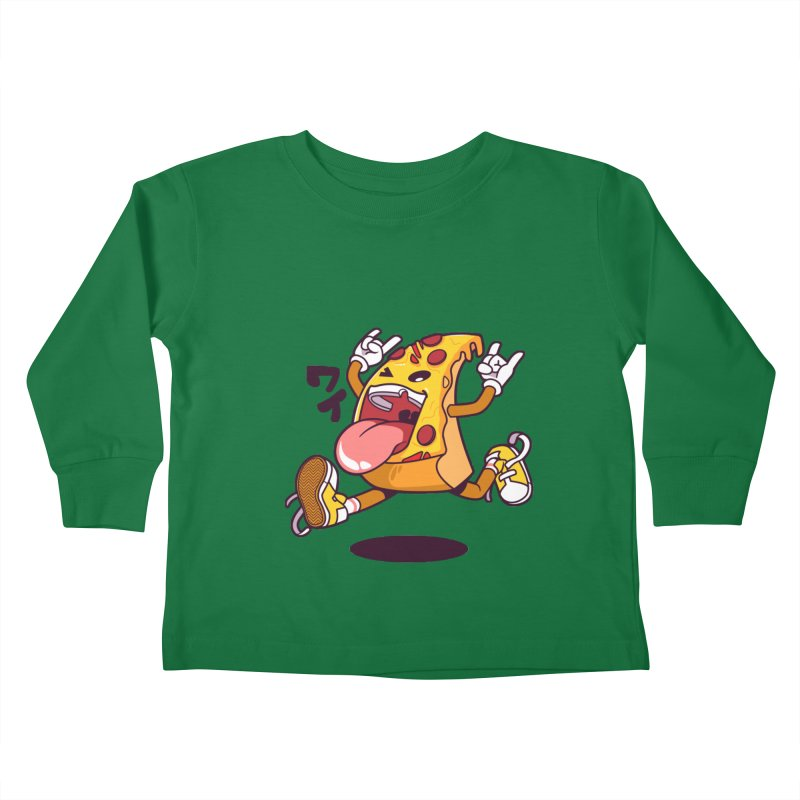 Pizza Jump Kids Toddler Longsleeve T-Shirt by mankeeboi's Artist Shop