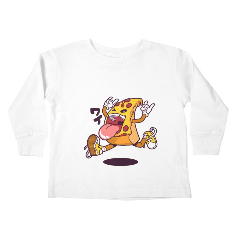 Pizza Jump Kids Toddler Longsleeve T-Shirt by mankeeboi's Artist Shop