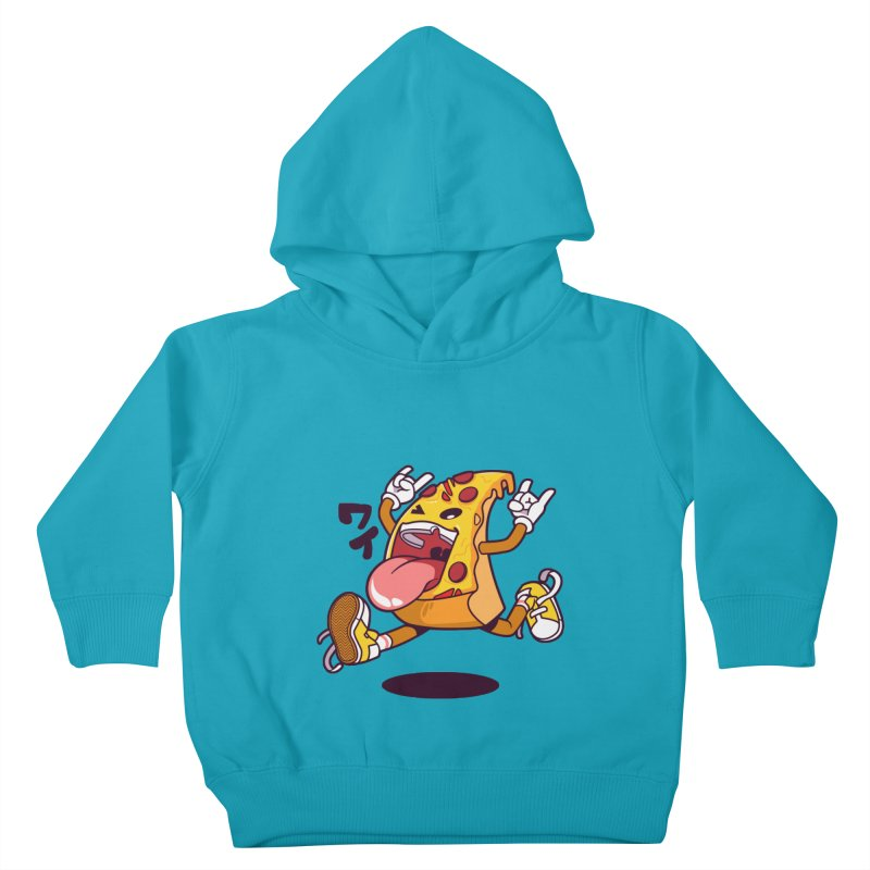 Pizza Jump Kids Toddler Pullover Hoody by mankeeboi's Artist Shop