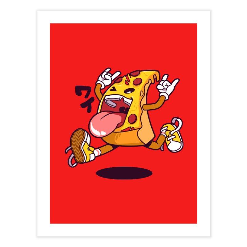 Pizza Jump Home Fine Art Print by mankeeboi's Artist Shop