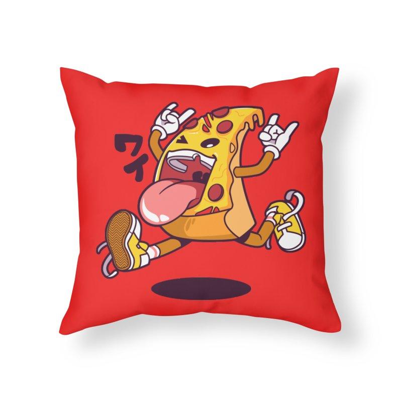 Pizza Jump Home Throw Pillow by mankeeboi's Artist Shop