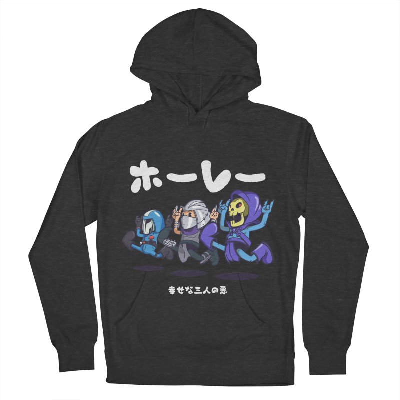 Happy 3 Fiends Men's French Terry Pullover Hoody by mankeeboi's Artist Shop