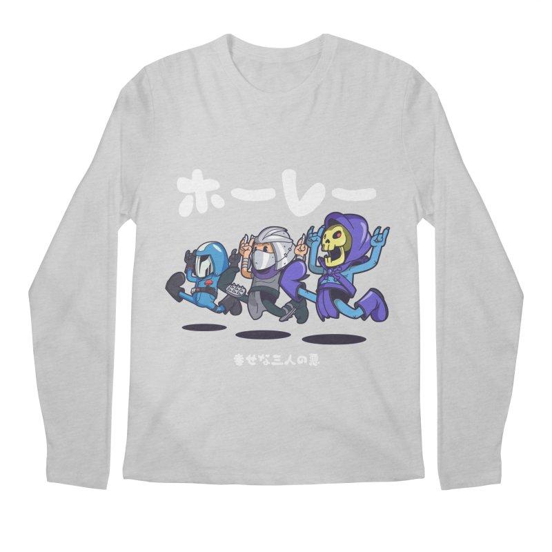 Happy 3 Fiends Men's Regular Longsleeve T-Shirt by mankeeboi's Artist Shop